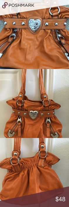 Orange Kathy Vanzeeland purse Orange Kathy Vanzeeland purse. Super cute and in great condition ! Was never used 💝🦋 Kathy Van Zeeland Bags Shoulder Bags