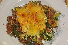 Grünkohl - Moussaka. Like German/Italian pasta. Delicious! Will need a german translator for this recipe.