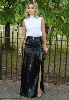 Well hello there: Kate Hudson was another early arrival at the Serpentine on Wednesday eve...