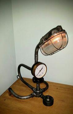 AMC77 steampunk industrial pipe lamp
