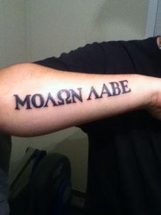 molon labe tattoo - Next one