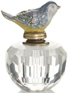 Vintage Inspired Crystal Bird Perfume Bottle