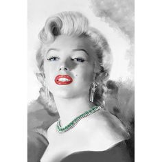 "Canvas Wall Art Marilyn Monroe with Red Lips, 21.5"" x 32.5"" - Walmart.com...$28.77"