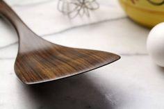 Large wooden spatula kitchen utensil of Walnut wood Wooden Spoon Carving, Wood Spoon, Wooden Gifts, Handmade Wooden, Wooden Spatula, Spoon Art, Wood Lathe, Wooden Kitchen, Walnut Wood