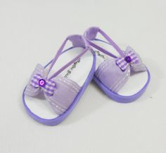 Lavender sandals for AG or 18 in doll