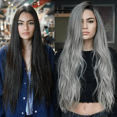 Witchy Hair, Grey Hair Transformation, Silver Blonde Hair, Hair Color Purple, Hair Highlights, Hair Looks, Dyed Hair, Hair Inspiration, Curly Hair Styles
