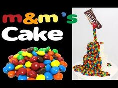 M&M's Rainbow Cake! How to make a Gravity Defying M&M Candy Cake with Cu...