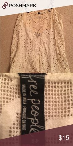 FREE PEOPLE TANK TOP Never worn and so cute for spring!! Vintage tag! Free People Tops Tank Tops