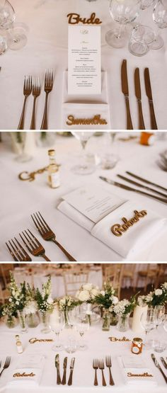 Wedding details Gold wooden wedding place names Sudeley Castle Wedding Photography Image by ARJ Photography Wedding Place Names, Wedding Place Settings, Wedding Name, Wedding Blog, Our Wedding, Wedding Ideas, Real Weddings, Castle Weddings, Wedding Details