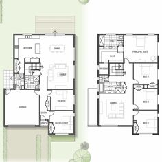 Sekisui House - Two storey Mapleton home design with home theatre and games room: Sekisui House 3 Storey House, Two Storey House Plans, 2 Storey House Design, Modern House Design, Craftsman Floor Plans, House Floor Plans, Building A New Home, Building Plans, Philippine Houses