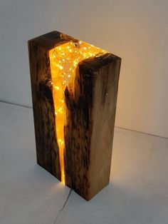 Resin Lamp - Light Block Sculpture - recovered antique pine and resin - Furniture . - Resin Lamp – Light Block Sculpture – Reclaimed Antique Pine and Resin – Furniture Mangle – - Wood Resin Table, Epoxy Resin Wood, Diy Epoxy, Resin Furniture, Furniture Projects, Pine Wood Furniture, Etsy Furniture, Furniture Design, Reclaimed Furniture