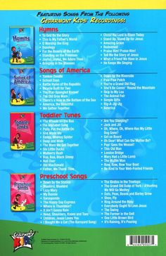 Kids Classics Collection Back Cover Songbook