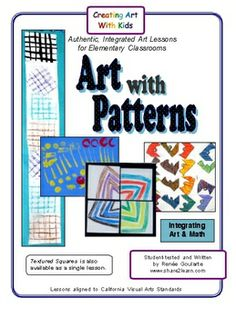 Art with Patterns ~ integrating math with art with color, pattern, and texture... teaching patterning and unity.