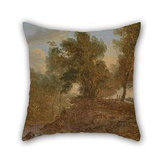 Beautifulseason The Oil Painting Benjamin Barker  A Landscape At Wick Gloucestershire Below The Rocks Pillow Shams Of 18 X 18 Inches  45 By 45 Cm Decorationgift For Dance Roomcouchkids Gir >>> Find out more about the great product at the image link.  This link participates in Amazon Service LLC Associates Program, a program designed to let participant earn advertising fees by advertising and linking to Amazon.com.