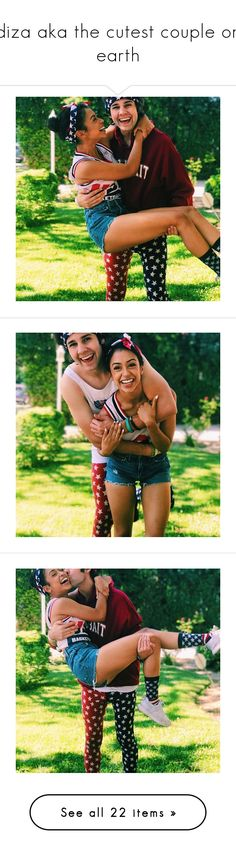 """""""diza aka the cutest couple on earth"""" by lvstmyhead ❤ liked on Polyvore featuring jewelry and earrings"""