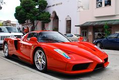 Enzo Ferrari is the most popular 'supercar' ever built. it has a top speed of 217 mph and reaching 60 mph in 3.4 seconds.