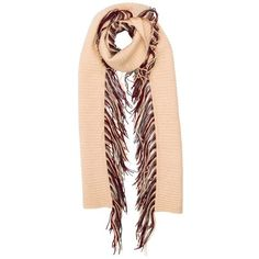 Burberry Cashmere Scarf ($195) ❤ liked on Polyvore featuring accessories, scarves, cashmere scarves, burberry shawl, cashmere shawl, fringe scarves and fringed shawls