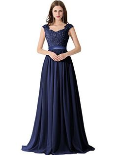 Babyonline Women's A-line Evening Dresses Lace Chiffon Long Prom Party Gowns - Reviews