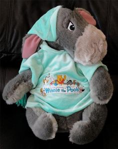 New Large Soft Sitting Eeyore Winnie The Pooh Stuffed Toy Animal Disney ( I HAVE)