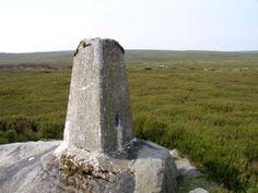 The trig point on Sandy Hill, part of Ilton Moor Still Standing