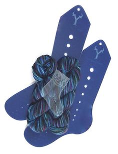 Sock Knitting Kit - 386 yards of sock yarn and sock blockers/needle gauge. $30