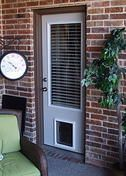 Internal miniblind back door with pet doggy door pre - Interior door with pet door installed ...