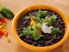 Get Black Beans Recipe from Food Network