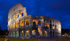 blue hour Colosseum