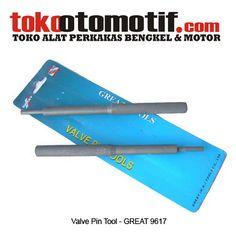 Kode : 12002000119 Nama : Valve Pin Tool Merk : GREAT Tipe : – No. Part Produsen : 9617 Status : Siap Berat Kirim : 1 kg