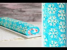 I made a Snowflake Cake Roll. In this video I show you step by step how to make the cake batter, how to pipe the snowflakes, make the filling and fill the cake. It is super delicious. I hope you like it. I love to bake Holiday Cakes, Christmas Desserts, Christmas Baking, Christmas Treats, Christmas Cookies, Japanese Roll Cake, Swiss Roll Cakes, Snowflake Cookies, Olaf Cookies