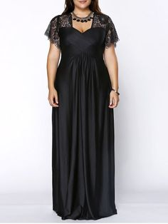 GET $50 NOW | Join RoseGal: Get YOUR $50 NOW!http://www.rosegal.com/plus-size-dresses/stylish-plus-size-sweetheart-neckline-lace-panelled-dress-for-women-492562.html?seid=7140940rg492562