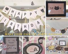 Make your own cat Party pack and choose only the items you need and get a discount while customizing your cat birthday party.