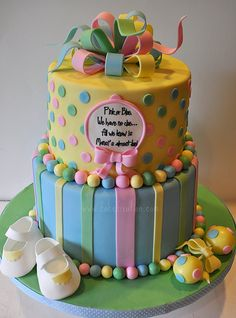 Neutral Baby Shower Cake