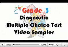 Grade 3 Diagnostic Multiple Choice Test - Video Sampler