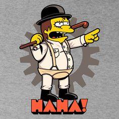 Ha-Ha! de BoggsNicolas - Camisetas Pampling.com Simpsons Tattoo, Simpsons Drawings, Simpsons Art, Funny Drawings, Kobe Vs Lebron, Cute Deadpool, Cartoon Character Tattoos, Simpson Wallpaper Iphone, Simpsons Characters
