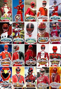 All the years of Power Rangers!