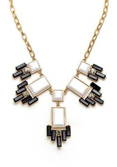 Kenneth Jay Lane Geometric 5-station necklace