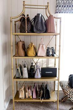 Designer handbag storage