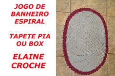 JOGO BANHEIRO ESPIRAL EM CROCHÊ - TAPETE PIA OU BOX