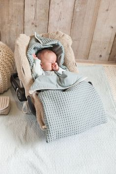 Kuscheliger Baby Fußsack Antwerp von Koeka (ohne Baby und Zubehör. ;))