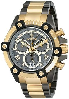 Men's Wrist Watches - Invicta Mens 12984 Reserve Analog Display Swiss Quartz Two Tone Watch *** For more information, visit image link. (This is an Amazon affiliate link)