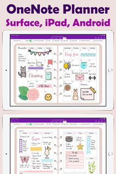 OneNote Planner Template for Surface Pro, iPad and Onenote Template, Notes Template, Planner Template, Schedule Templates, Planner Apps, Study Planner, Monthly Planner, Best Planner App, Mom Planner