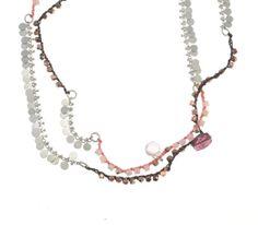 Rosa Mixed Media Necklace by NaomiHerndon on Etsy, $260.00