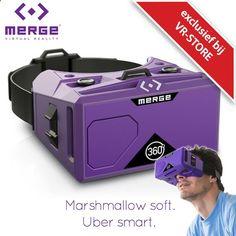 Merge VR Virtual Reality Bril Ervaar Virtual Reality met uw smartphone! Speel games vlieg de ruimte in ontdek nieuwe werelden of bekijk een concert in het comfort van uw huiskamer door simpelweg Virtual Reality apps te downloaden.De Merge VR Virtual Reality Bril is gemaakt van zacht & lichtgewicht schuim en sluit hierdoor comfortabel aan op de contouren van uw gezicht. De Merge VR is duurzaam en stevig genoeg om gemakkelijk mee te nemen in uw tas. Bovendien is de flexibele bril voorzie...