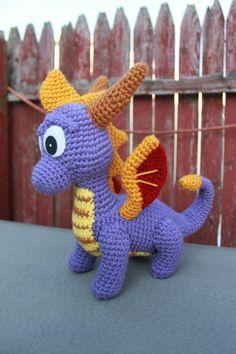 Crochet Pattern: Spyro and Ember Inspired Dragon by MilesofCrochet
