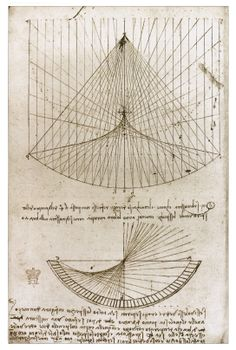 Whilst in Milan, Leonardo became very interested in Mathematics, also. He illustrated one of the first modern math books, done by a friend of his, Luca Pacioli.