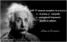 Jeśli... #Einstein-Albert,  #Praca, #Szczęście, #Życie