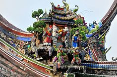 Cochin ceramics on Taiwan temples | 4779 保安宮 cochin ceramic the temple art of taiwan in baoan temple ...