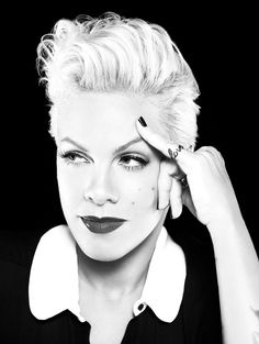 Pink - love her strength, determination and humor! Oh yeah, she's also sings a little... ;0)