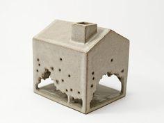 Junction Art Gallery - Mizuyo Yamashita Treehouse tealight holder Stoneware Clay, Treehouse, Tea Light Holder, Tea Lights, Art Gallery, Ceramics, Winter, Design, Home Decor